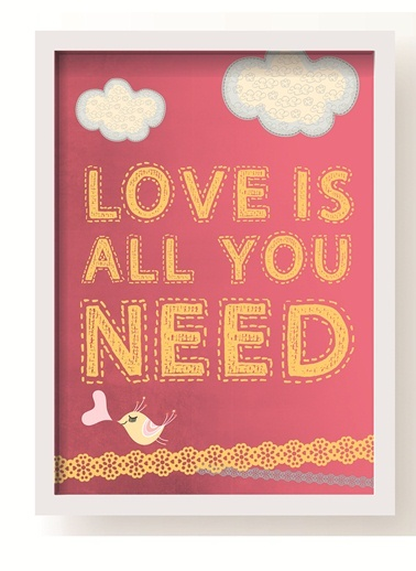 Love All You Need Poster-All About Wall